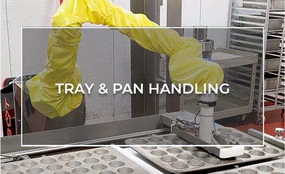 Robotic tray handling