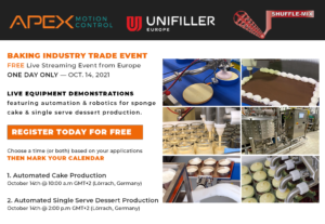 Live Streaming Event for Apex Motion Control, Unifiller Europe and Shuffle-Mix